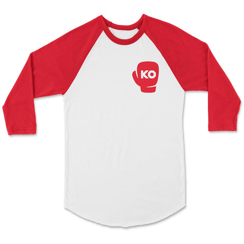 KO Boxing Club Graphic Baseball Tee - Red