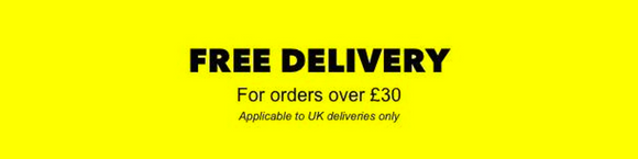 Free Delivery For Orders Over £30