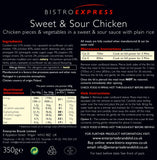 Bistro Express Gluten Free Sweet & Sour Chicken Ready Meal