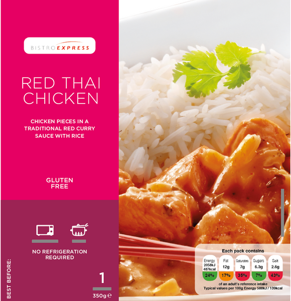 Bistro Express Gluten Free Red Thai Chicken Ready meal