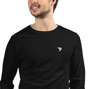 Minimalist Stitched Logo Long Sleeve Tee