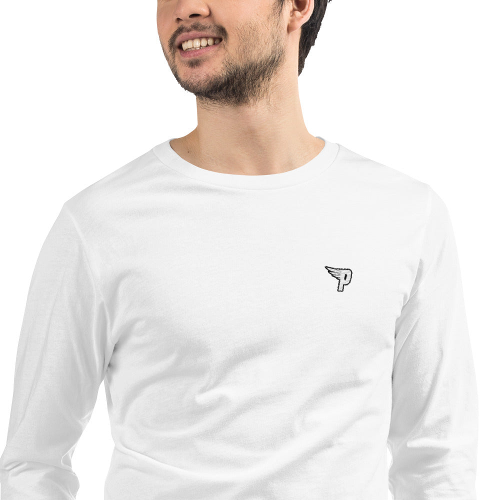 Pure World Wide - Embroidered Logo Long Sleeve Tee