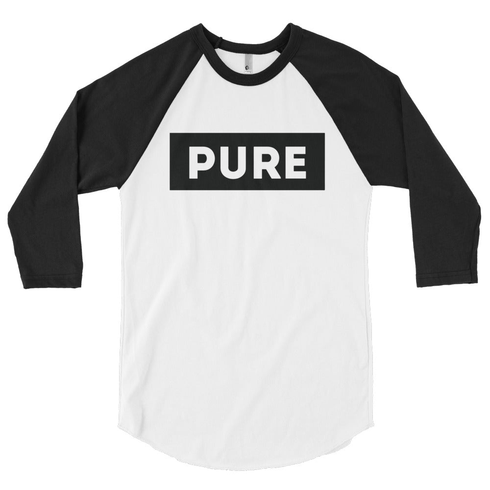 Box Logo 3/4 sleeve raglan shirt (Black)