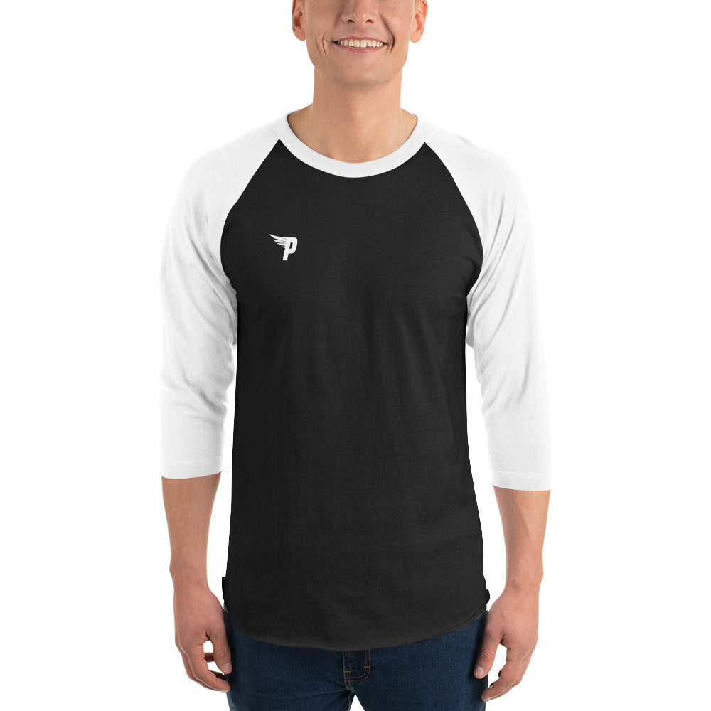 Pure Worldwide -3/4 Sleeve Logo Raglan