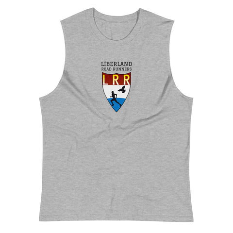Grey Heather Liberland Road Runners Muscle Shirt