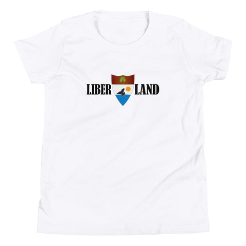 "White ""Liber-Land"" Youth T-Shirt"