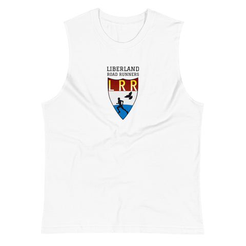 White Liberland Road Runners Muscle Shirt