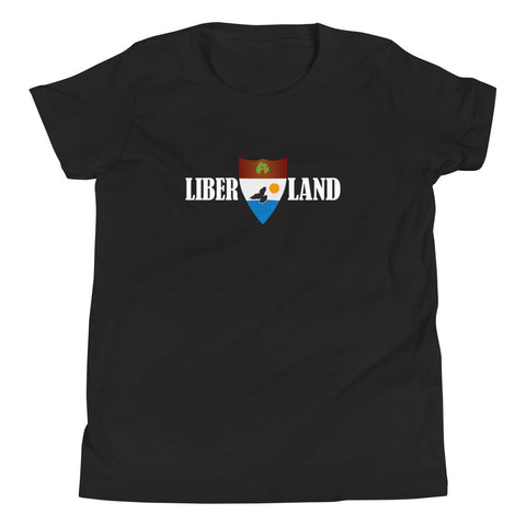 "Black ""Liber-Land"" Youth T-Shirt"