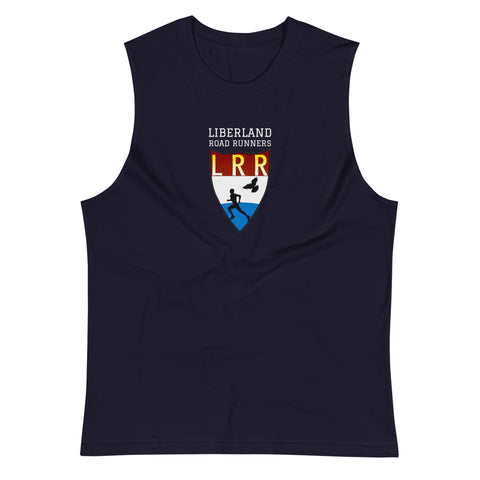 Navy Liberland Road Runners Muscle Shirt
