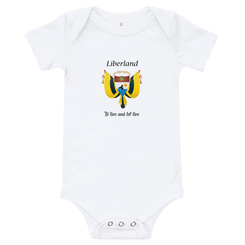 "White Liberland ""To Live & Let Live"" Baby Bodysuit"