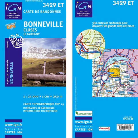 Institut Geographique National Bonneville - Cluses 3429ET