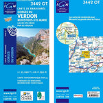 Institut Geographique National Gorges du Verdon-Moustiers 3442OT