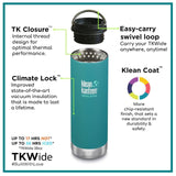 Klean Kanteen - Insulated TKWide Flask, 12oz