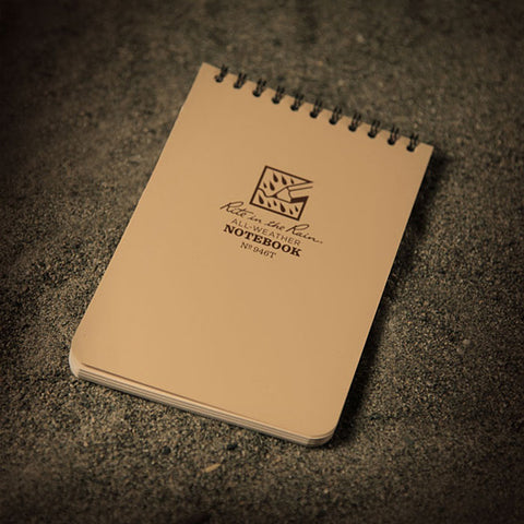 Rite In The Rain 4x6 Waterproof Notepad, Tan