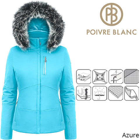 Poivre Blanc Womens Active Stretch Ski Jacket Azure