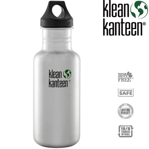 Klean Kanteen Classic Loop Top Bottle, 18oz