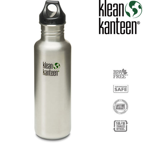 Klean Kanteen Classic Loop Top Bottle, 27oz