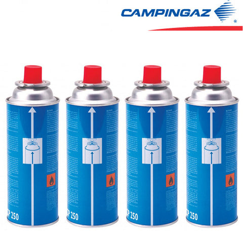 Campingaz CP250 Butane Gas Cartridge, 250g (4-pack)