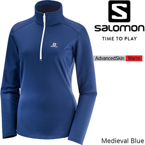 Salomon Women Discovery LT HZ Fleece Medieval Blue