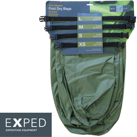 Exped Fold Drybag 4-pack (XS, S, M, L)