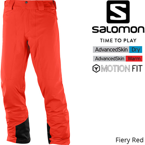 Salomon Icemania  Pant Fiery Red