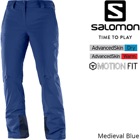 Salomon Women Icemania  Pant Medieval Blue