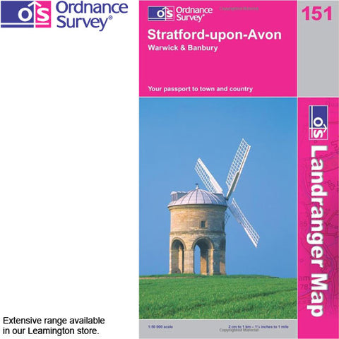 Ordnance Survey Landranger 1:50k Maps