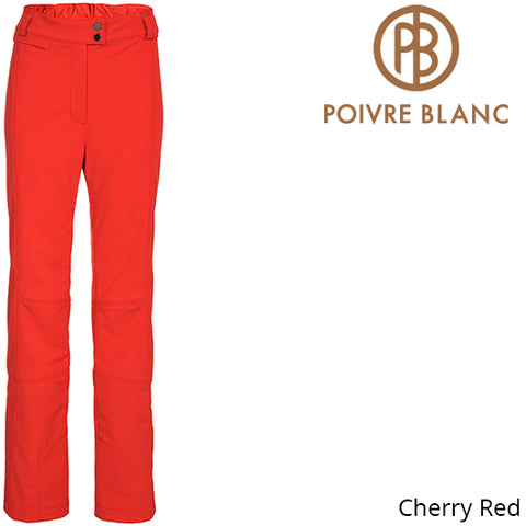Poivre Blanc Womens Traditional Stretch Ski Pants Cherry Red