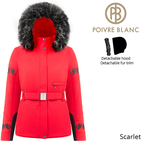 Poivre Blanc Women Traditional Belted Stretch Ski Jacket