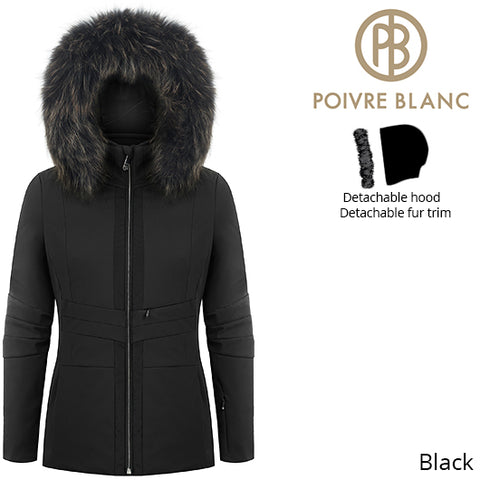 Poivre Blanc Womens Short Traditional Stretch Ski Jacket