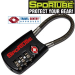 Sportube Combination Cable TSA Lock