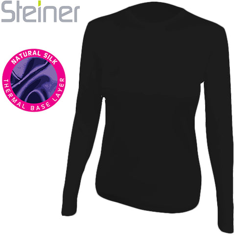 Steiner Womens Silk Long Sleeve Vest