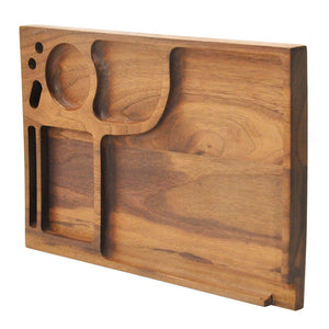 Natural Walnut Multifunction Tray