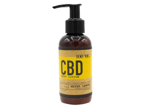 Meyer Lemon 4 OZ / 100 MG CBD Lotion