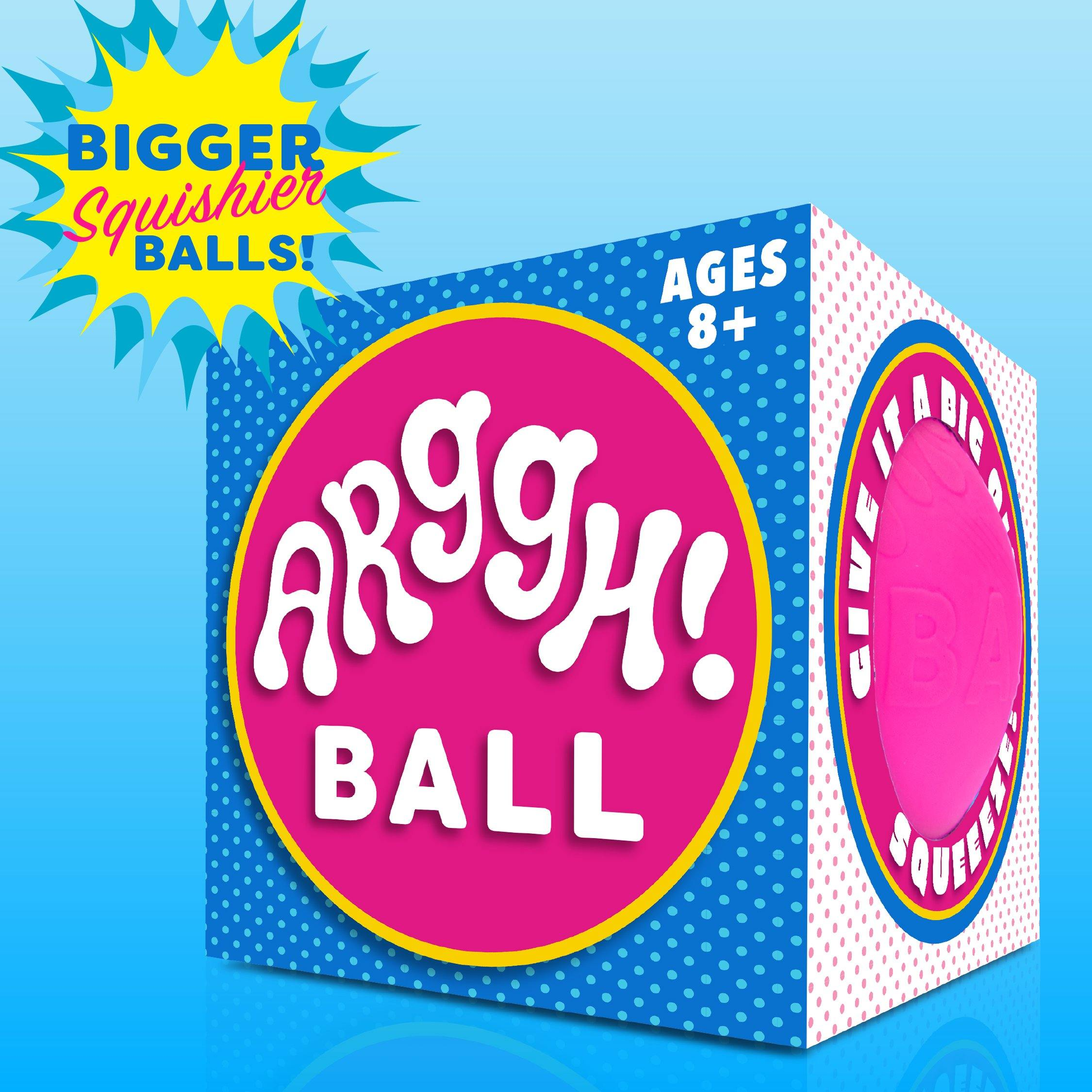 Arggh! Ball Jumbo Color-Changing Stress Ball - (Yellow-Orange / Pink-Purple)