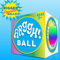 Power Your Fun Arggh Rainbow Giant Stress Ball - Fidget toy for Adults and Kids