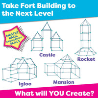 Fun Fort Building Kits for Kids (81pcs)