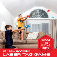 Laser Launchers 2-Player Laser Tag Set with 2 Flying LED Drones