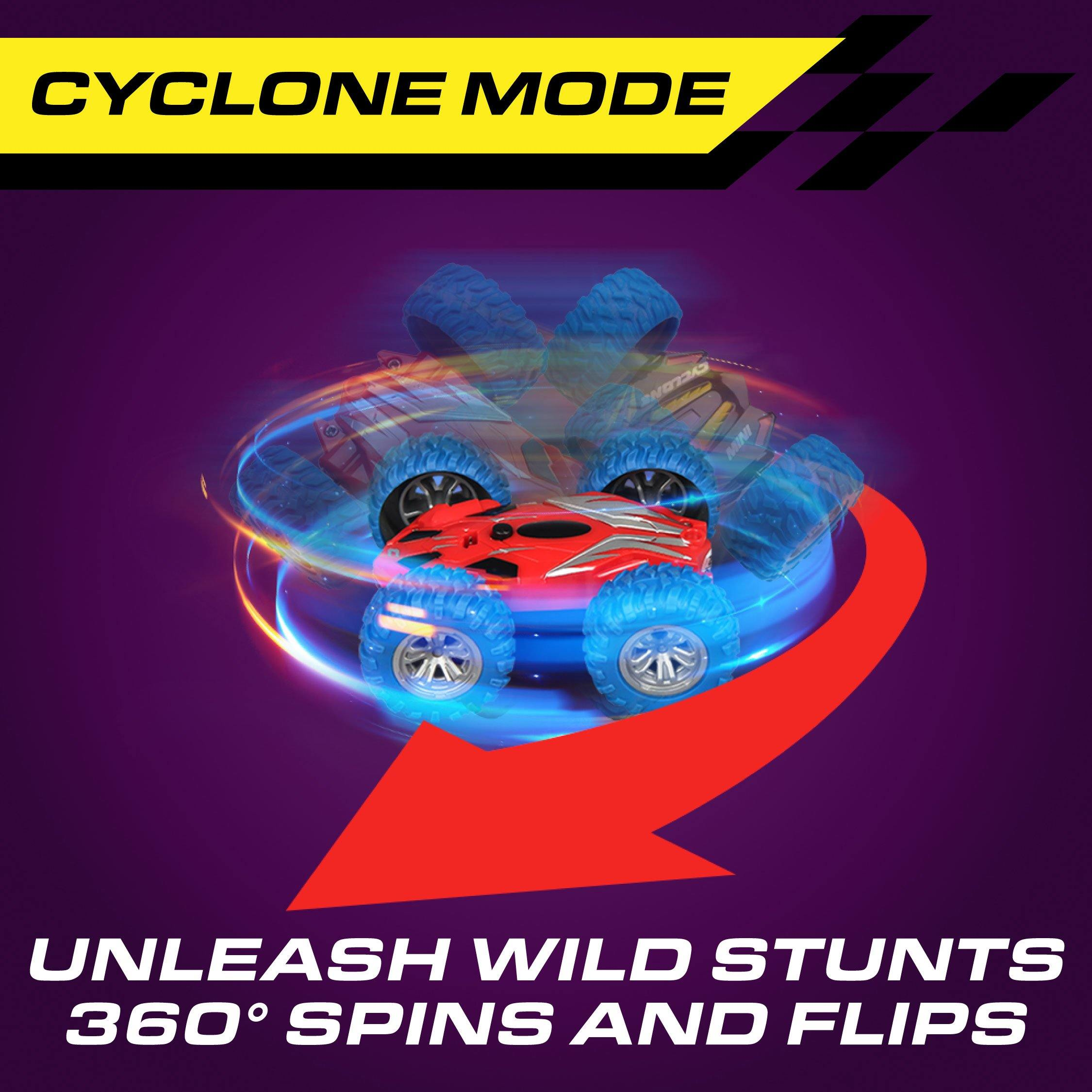 Cyclone Mini Remote Control Stunt Car with LEDs - poweryourfun