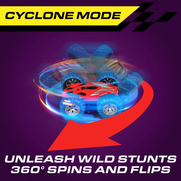 Cyclone Mini Remote Control Stunt Car with LEDs