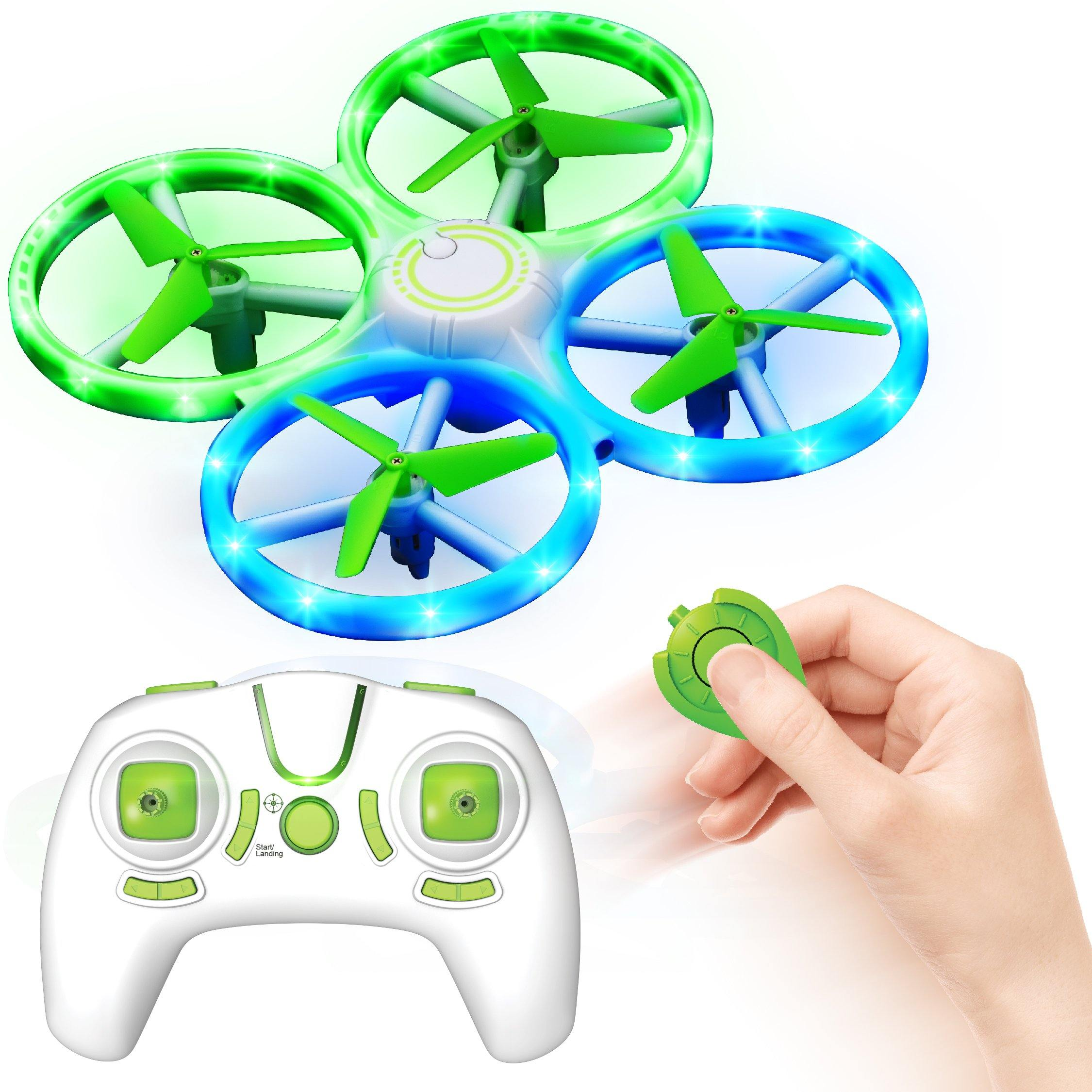 UFO1 Mini LED Drone with Hand Motion Sensors (Green)
