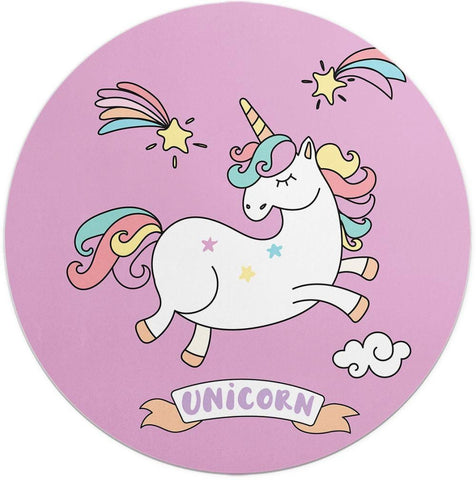 Unicorn flies in the sky with its wings