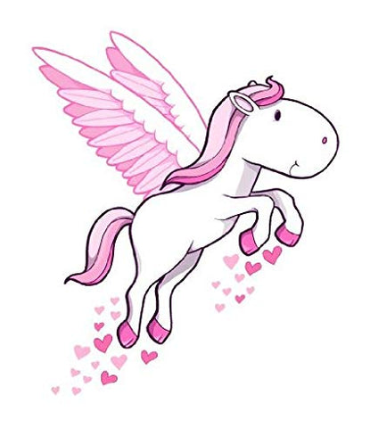 Pegasus flies but different from a unicorn because no horn