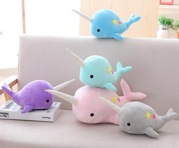 Narwhal unicorn whale soft toys