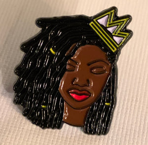 Loc'd Queen Lapel Pin