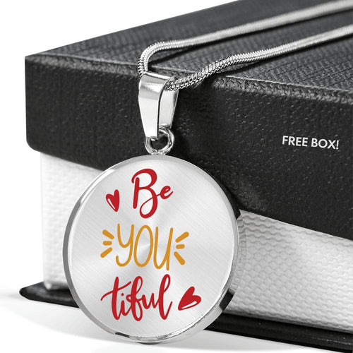 Be You Tiful CIrcle Pendant Necklace