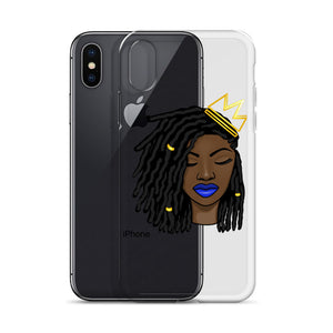 Loc'd Queen Blue Lip iPhone Case