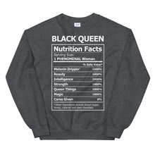 Load image into Gallery viewer, Black Queen Nutrition Facts - Sweatshirt