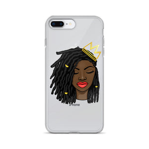 Loc'd Queen Red Lip iPhone Case