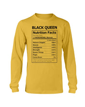 Load image into Gallery viewer, Black Queen Facts Shirt